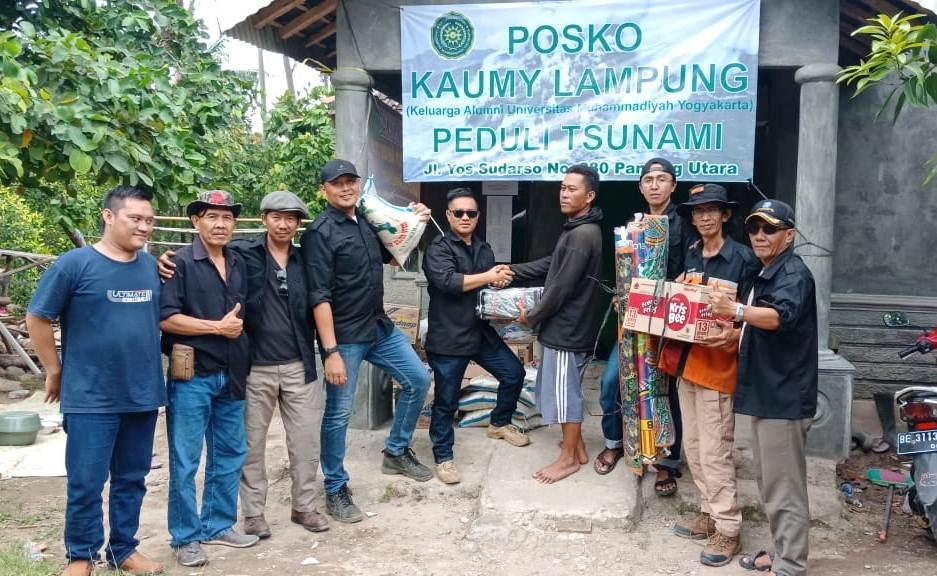 Bermitra Dengan SAR Mapala, KAUMY Lampung Dirikan Posko Relawan di Kunjir