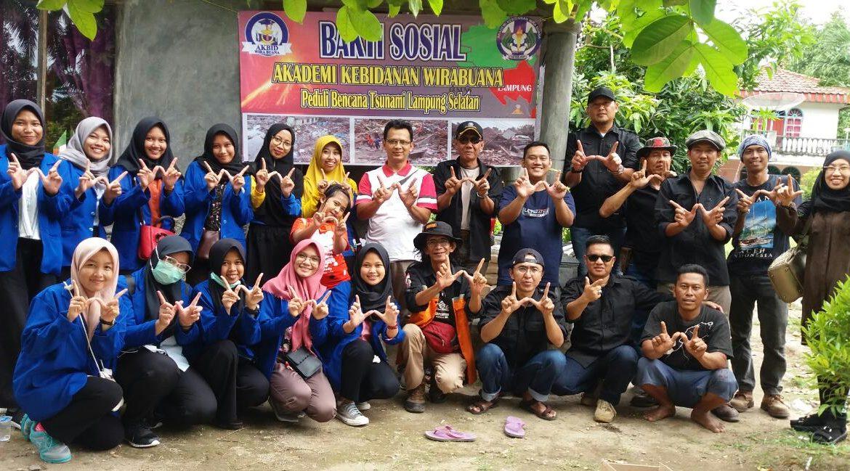 Bekerja Sama dengan SARMMI, Akbid Wira Buana Metro Bantu Korban Tsunami di Kunjir