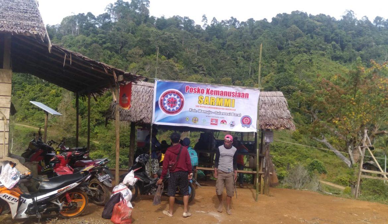 Posko Kemanusiaan SARMMI Difungsikan Sebagai Posko Persinggahan Relawan yang Ke Desa Terisolir di Mamuju